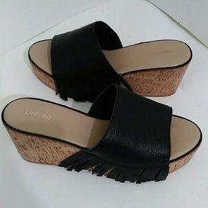 3/$20 - Lands' End Cork Platform Sandals